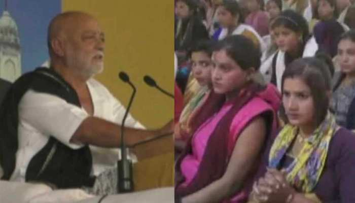 अयोध्याः मोरारी बापू ने गणिकाओं की मौजूदगी में सुनाई 'राम कथा'