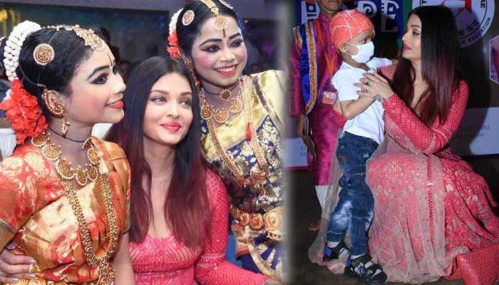 See Photos: Aishwarya Rai Bachchan celebrates Christmas 2018 with cancer survivor children