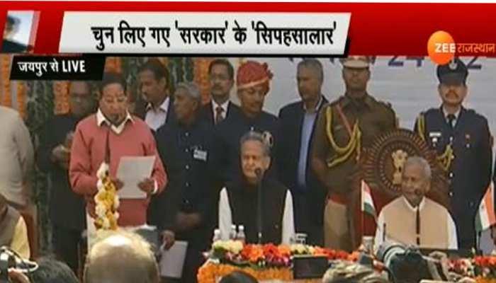 राजस्थान: गहलोत सरकार के 23 मंत्रियों ने ली शपथ, कुछ देर में होगी विभागों की घोषणा
