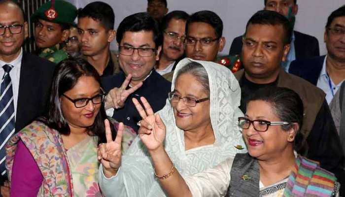 चुनाव में शेख हसीना की जबर्दस्त जीत, फिर से चुनाव कराने से चुनाव आयोग का इनकार