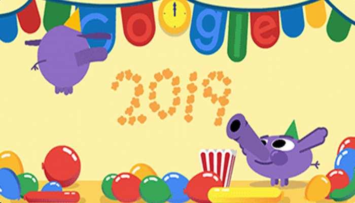 New Year 2019: Google ने Doodle के साथ मनाया नए साल का जश्न, क्या देखा आपने?