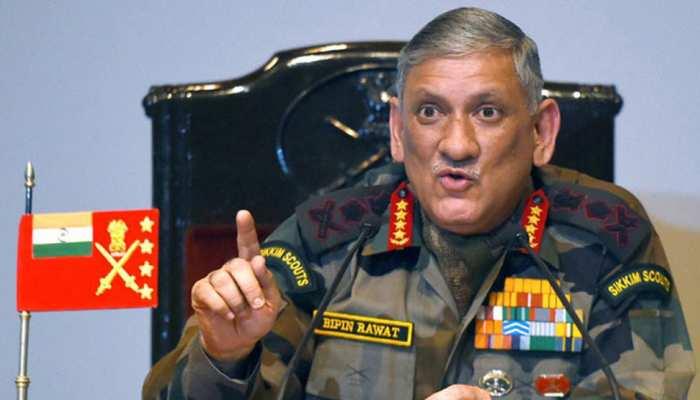 बॉर्डर पर जबरदस्त खतरे का सामना कर रहा है भारत, सेना प्रमुख रावत ने किया अलर्ट