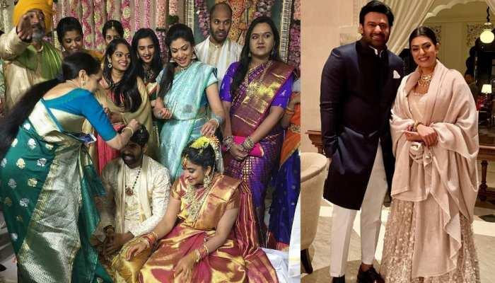 'बाहुबली' प्रभास के साथ निर्देशक राजामौली ने बेटे की शादी में लगाए ठुमके, Boyfriend के साथ दिखीं सुष्मिता