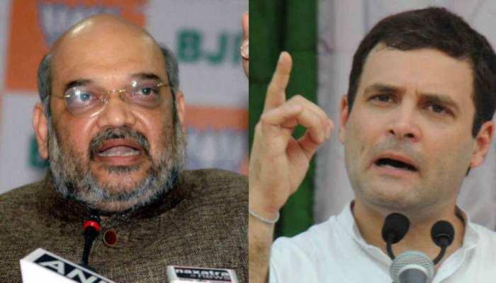 अमित शाह का सवाल, 'मध्य प्रदेश में वंदे मातरम पर रोक का फैसला क्या राहुल गांधी का है?'