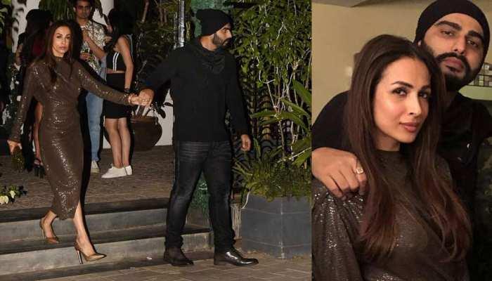 अर्जुन कपूर का 'लेडी लव' मलाइका अरोड़ा के साथ रोमांटिक अंदाज, हाथों में हाथ डाले आए नजर