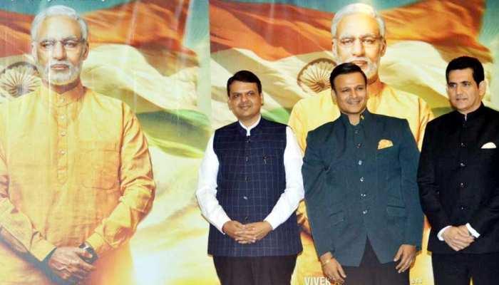 Maharashtra CM Devendra Fadnavis Launches The First Look Poster PM Narendra Modi Biopic