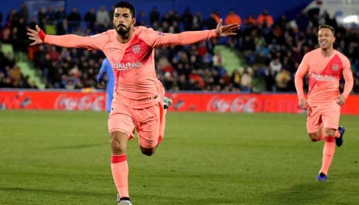स्पेनिश लीग: लियोनल मेसी और लुईस सुआरेज के गोल की बदौलत जीता बार्सिलोना