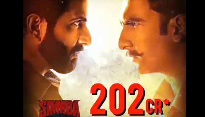 Box Office : रणवीर सिंह की फिल्म ने की छप्पर फाड़ कमाई, 'सिंबा' 200 करोड़ के पार
