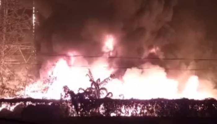 पटना में भीषण आगलगी, BSNL टावर का लाखों का सामना जलकर राख