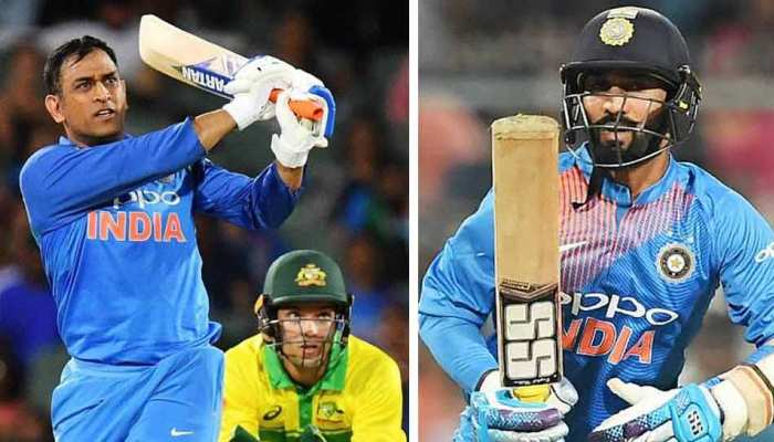 When finisher king MS dhoni tired, Dinesh Karthik support him by scoring quick runs