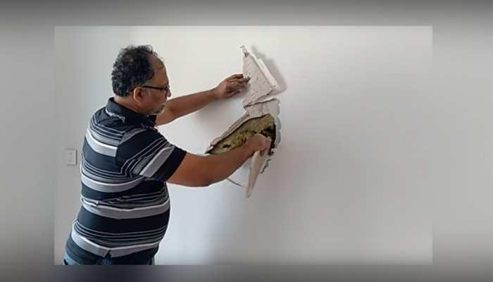 VIDEO: तीन करोड़ में खरीदा सपनों का घर, एक मुक्के में दीवार हो गई चकनाचूर