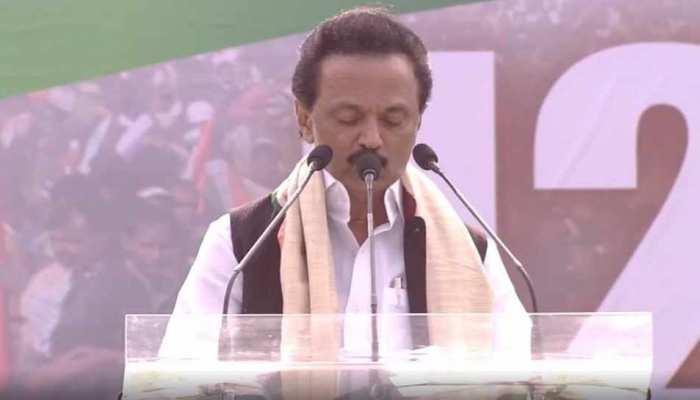 कोलकाता: मंच से स्टालिन बोले, 'लोकसभा चुनाव आजादी की दूसरी लड़ाई जैसी'