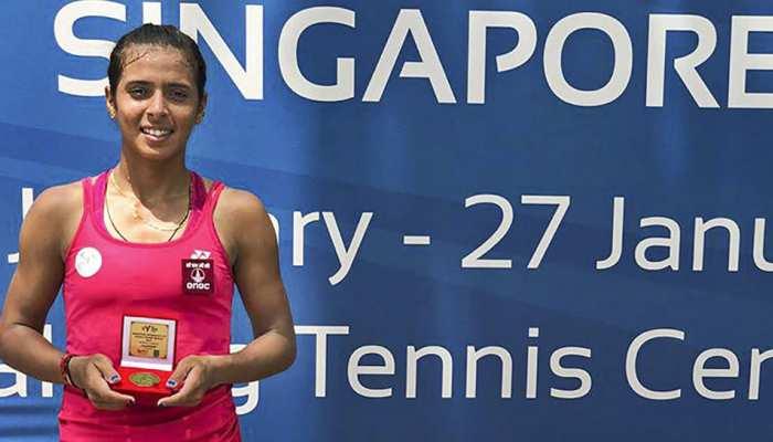 अंकिता रैना का 2019 में शानदार आगाज, उलटफेर कर सिंगापुर ITF टूर्नामेंट जीता