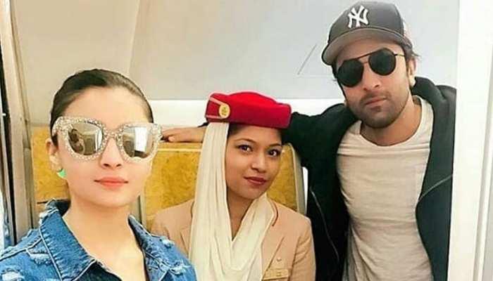 'कलंक' की शूटिंग हुई खत्म, बॉयफ्रेंड रणबीर कपूर के साथ नजर आईं आलिया भट्ट