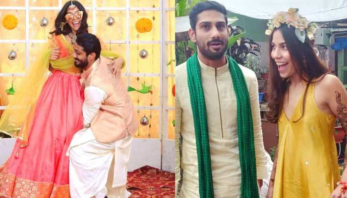 प्रतीक बब्बर की मेहंदी-हल्दी की फोटोज वायरल, BSP नेता की बेटी से हो रही है शादी