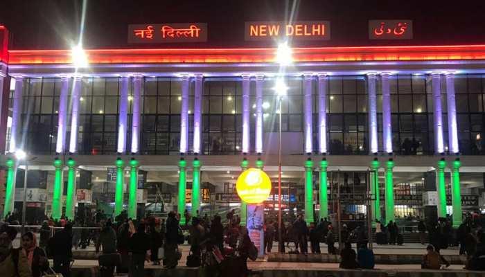 गणतंत्र दिवस: नई दिल्ली रेलवे स्टेशन पर लाइटिंग, सुरक्षा के पुख्ता इंतजाम