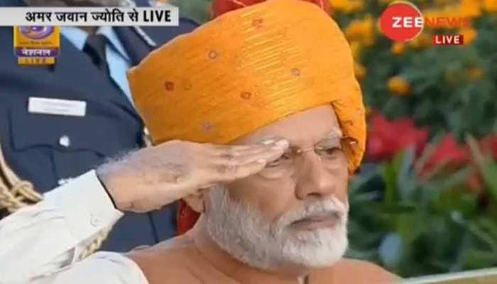 Republic day 2019 : अमर जवान ज्योति पर PM मोदी ने शहीदों को दी श्रद्धांजलि