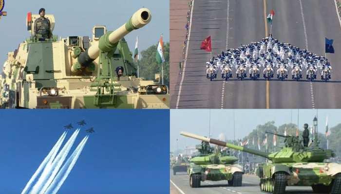 देशभक्ति के रंग में सराबोर दिखी गणतंत्र दिवस की परेड, सेना ने दिखाया दम