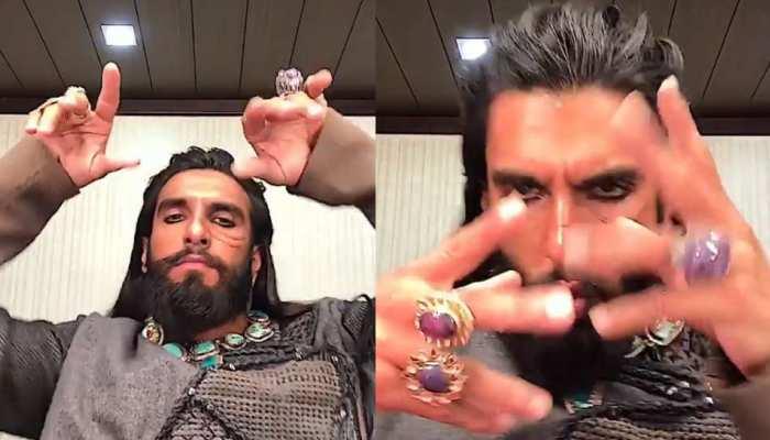 फिर वायरल हुआ रणवीर सिंह का खिलजी अवतार, अंग्रेजी बीट्स पर नाचा 'चिल जी'