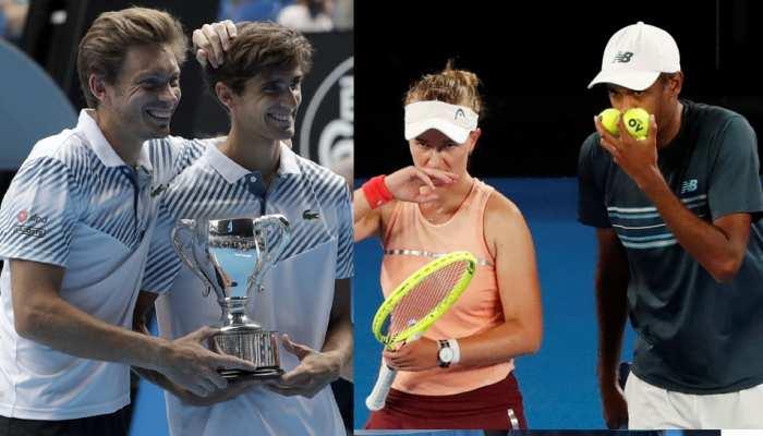 Australian Open: फ्रेंच जोड़ी ने पुरुष डबल्स, अमेरिकी जोड़ी ने मिक्स्ड डबल्स खिताब जीता