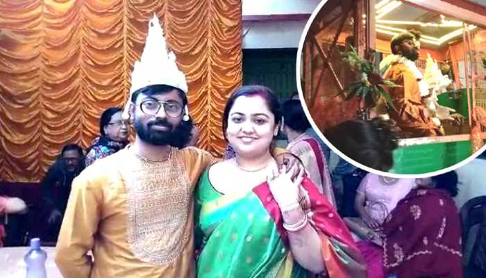 A man from Krishnanaagar arrived at bride s palace on Road-Roller