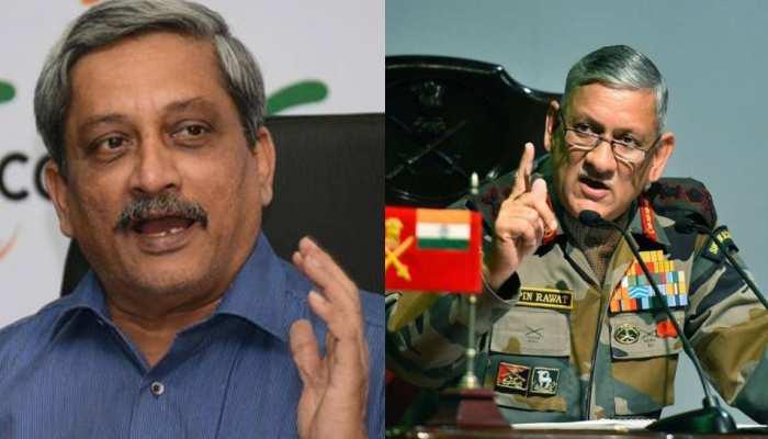 सेना प्रमुख जर्नल बिपिन रावत ने गोवा के मुख्यमंत्री मनोहर पर्रिकर से पणजी में मुलाकात की