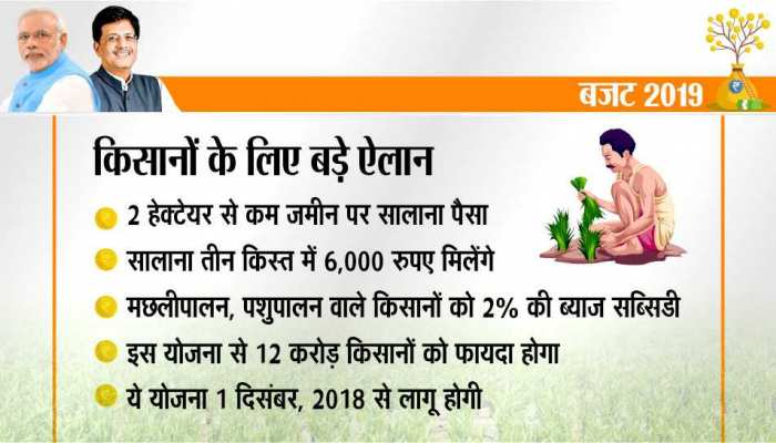 What will the farmers get from the BUDGET 2019