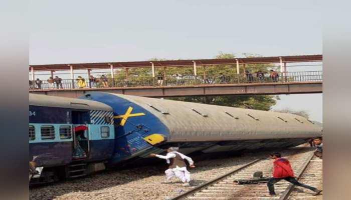 राजस्थान:  सांंगानेर रेलवे स्टेशन पर पटरी से उतरी ट्रेन, चालक हुआ घायल