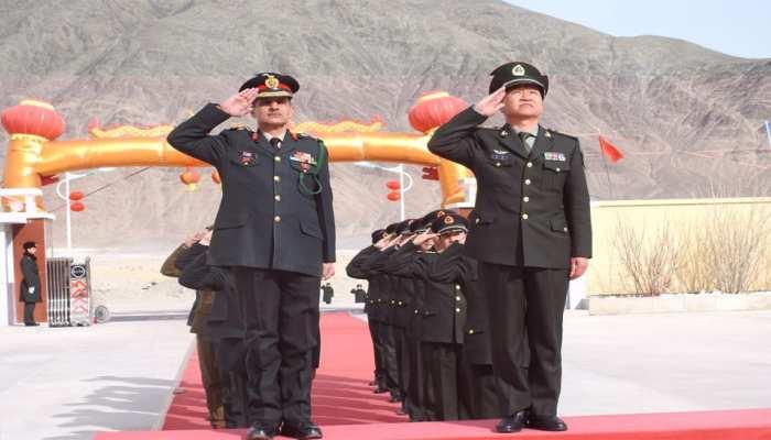 'चीनी वसंत उत्सव' के अवसर पर चीन और भारत की सेनाओं के बीच हुई बैठक