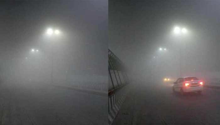 घने कोहरे ने रोकी दिल्ली-एनसीआर की रफ्तार, सड़कों पर रेंगते दिखे वाहन