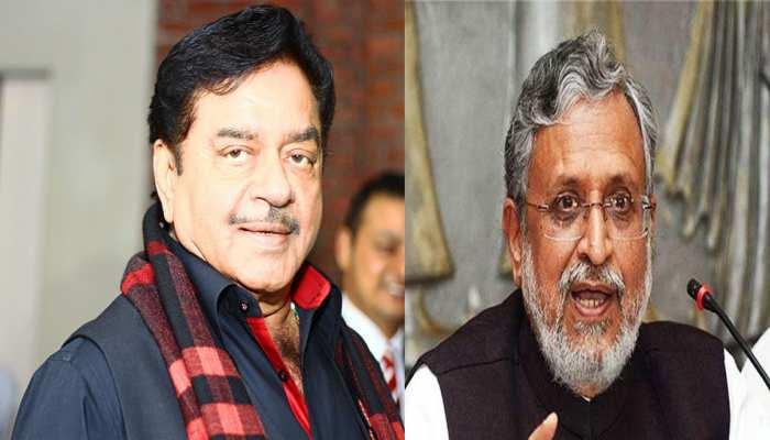 शत्रुघ्न सिन्हा को सुशील मोदी की चुनौती, कहा- 'पटना से लड़ें चुनाव, दूर हो जाएगा भ्रम'