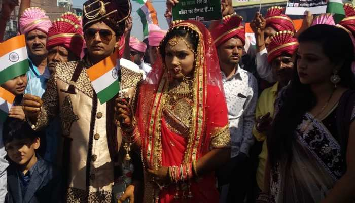 An exclusive wedding in Vadodara due to the Pulwama attack, songs of patriotism at the procession