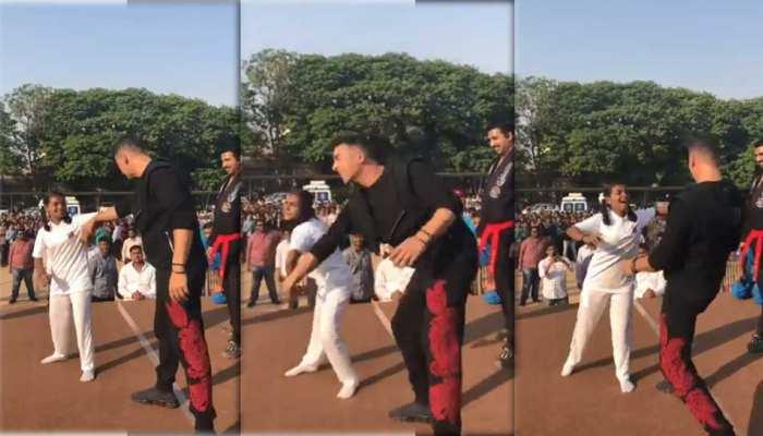 VIDEO: लड़कियां अब छेड़ने वालों को चखाएंगी मजा, खिलाड़ी अक्षय कुमार से सीखे सेल्फ डिफेंस के गुर