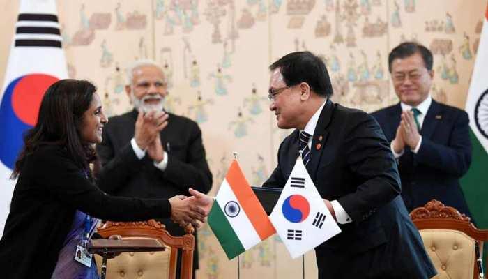 भारत-दक्षिण कोरिया के बीच वैश्विक अपराध से लड़ने समेत 7 MoU पर हुए हस्ताक्षर