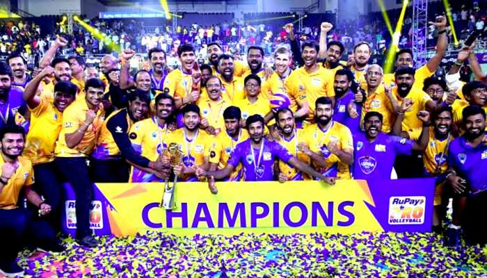 PVL: कालीकट हीरोज को हराकर चेन्नई स्पार्टन्स बना वॉलीबॉल लीग का चैंपियन