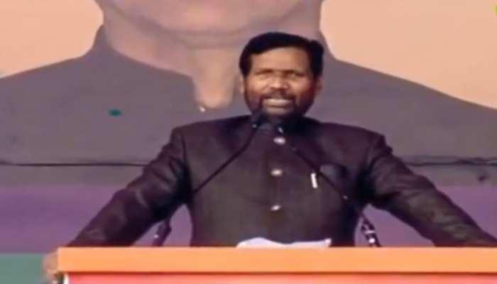 संकल्प रैली में रामविलास पासवान बोले- 'पीएम मोदी का सीना 56 नहीं 156 इंच का है'