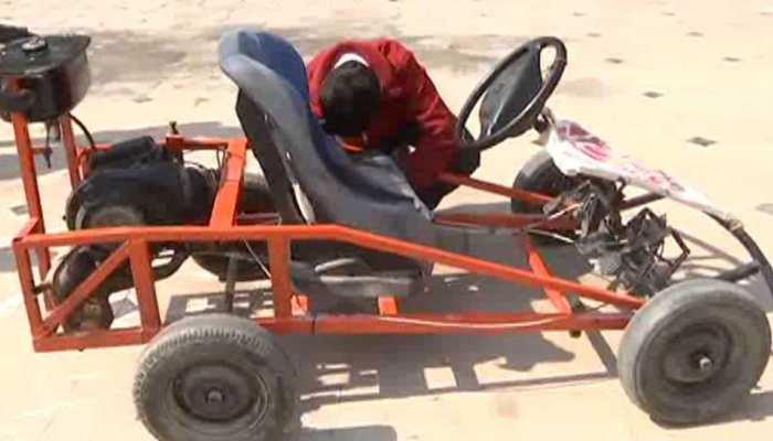 राजस्थान में 15 साल के बच्चे ने कबाड़ से बनाई अनोखी कार