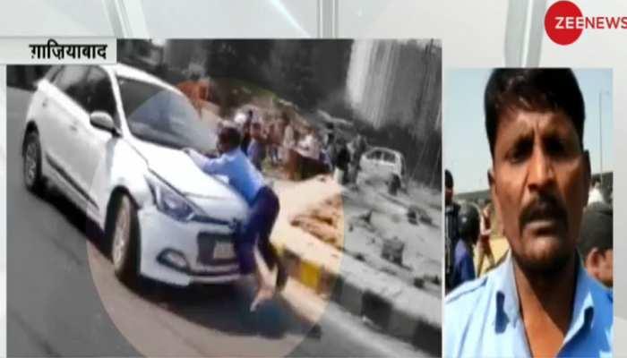 VIDEO: गाजियाबाद में बोनट पर व्यक्ति को लटकाकर 2 Km तक चलाई कार, चिल्लाता रहा 'बचाओ-बचाओ'
