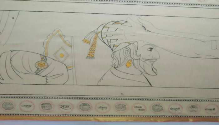 Women paniter make struggle and courage of Shivaji and his mother Jijabai will be seen on saree