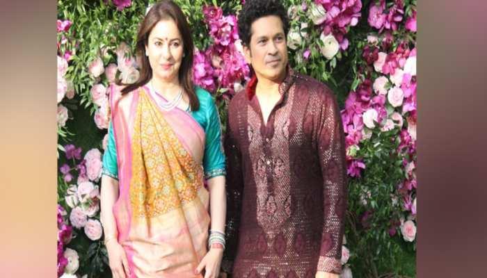 आकाश अंबानी और श्लोका मेहता की शादी में पहुंचे कई क्रिकेटर्स, हार्दिक-सचिन बने बाराती