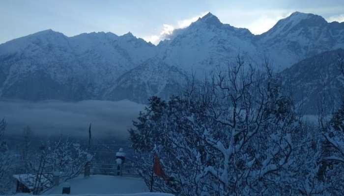 Himachal Pradesh: fresh snowfall from Kalpa in Kinnaur district