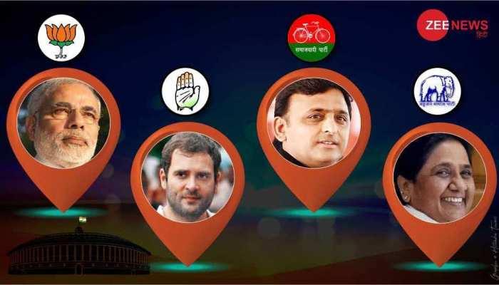 लोकसभा चुनाव 2019: यूपी में बीजेपी ही नहीं SP-BSP गठबंधन की राह भी कठिन, वोट ट्रांसफर बड़ी चुनौती