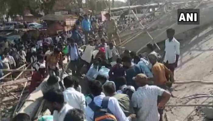 कर्नाटक: निर्माणाधीन बिल्डिंग गिरी, एक की मौत, कई लोगों के फंसे होने की आशंका
