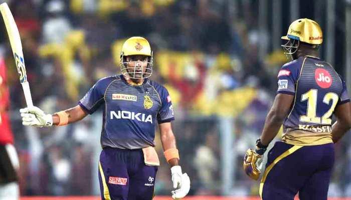 IPL 2019: कोलकाता ने पंजाब को दिया 219 रन का टारगेट; रसेल और नरेन की तूफानी पारी
