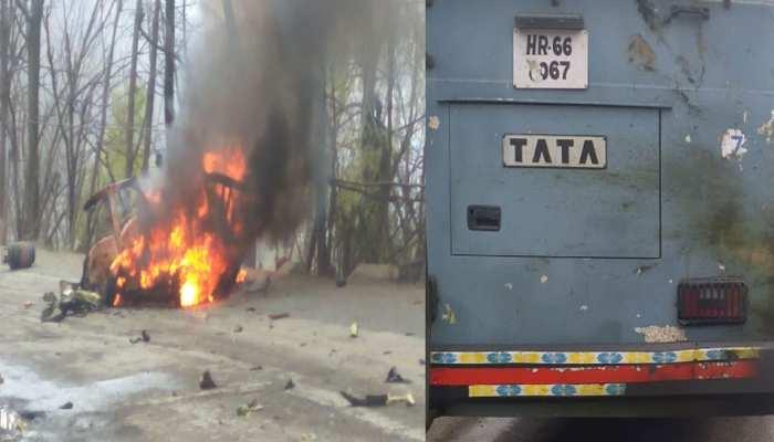 जम्मू कश्मीर : जवाहर टनल के पास CRPF की बस से टकराई कार, जोरदार धमाका, ड्राइवर फरार
