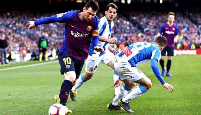 La Liga: लियोनेल मेसी के 2 गोल से जीता बार्सिलोना, एस्पेनयॉल को हराया