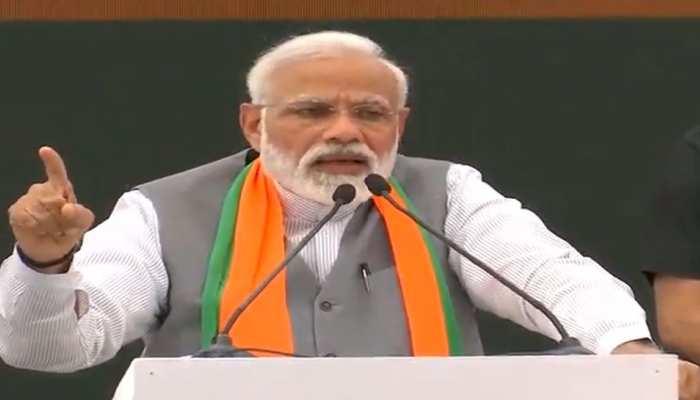 BJP Manifesto 2019: पीएम मोदी ने बताया इन 3 बिंदुओं के इर्द-गिर्द है हमारा 'संकल्प पत्र'