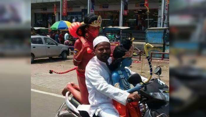 irfan ride scooty with two kids who was in role of lord rama and hanuman