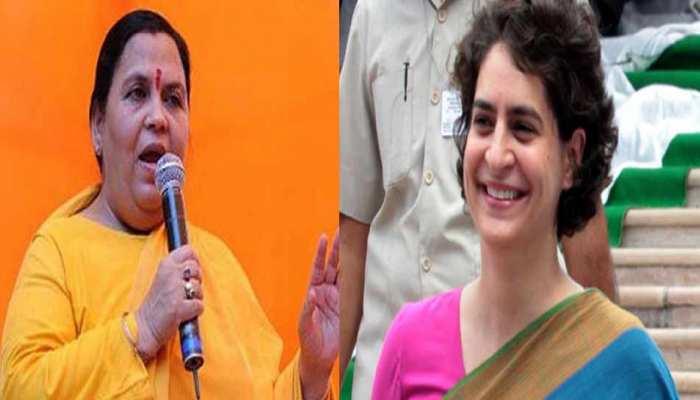 उमा भारती का प्रियंका गांधी पर विवादित बयान, बोलीं- चोर की पत्नी को क्या कहेंगे