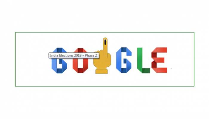 भारत में लोकतंत्र के उत्सव में गूगल ने भी लिया हिस्सा, दूसरे चरण में भी बनाया डूडल